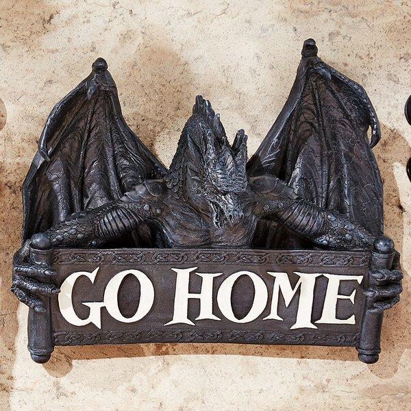 Gothic Wall Decor design toscano go home gothic dragon un-welcome wall décor
