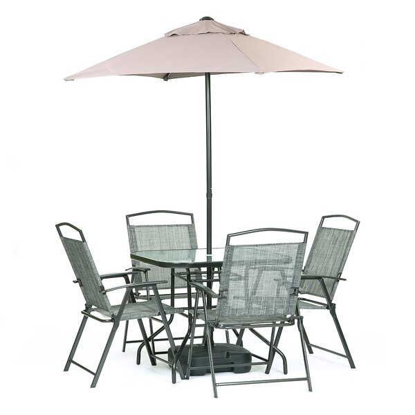 Buiron 7 Piece Dining Set with Umbrella by Zipcode Design