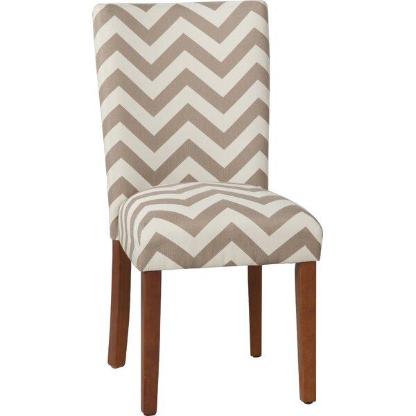 Douglass Chevron Parsons Chair (Set of 2) by Ebern Designs