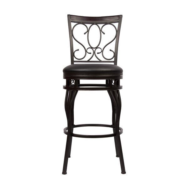 Greater Taree Adjustable Height Swivel Bar Stool by Fleur De Lis Living