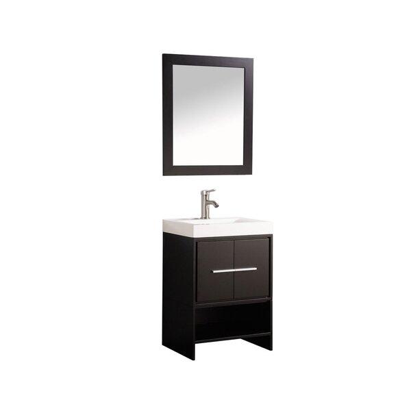 Peirce 24 Single Bathroom Vanity Set with Mirror by Orren Ellis