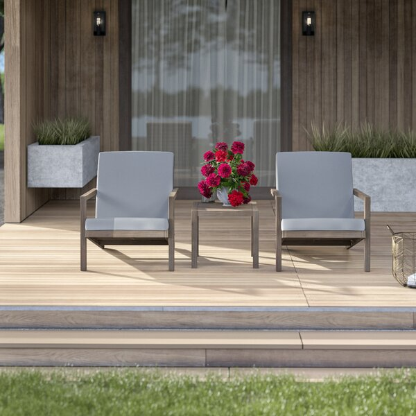Dehn 3 Piece Seating Group with Cushions by Mercury Row