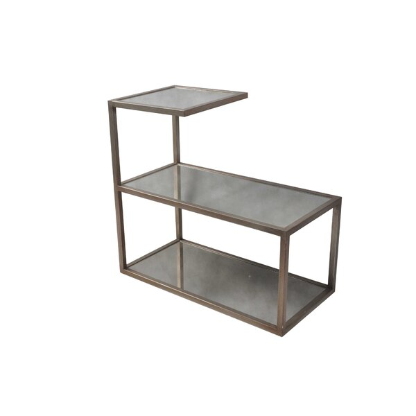 Pinar Glass Top Floor Shelf End Table Set (Set Of 2) By Rosdorf Park