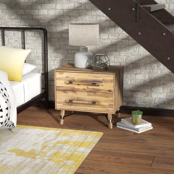 Treyton 2 Drawer Nightstand by Mistana