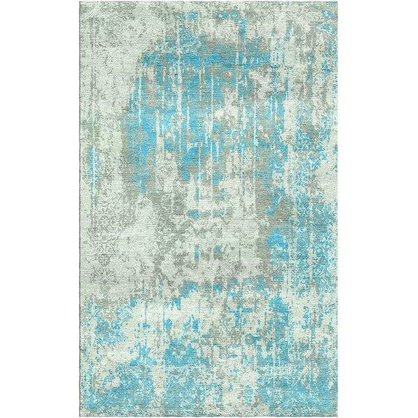 Aliza Handloom Blue/Sage Area Rug by Bungalow Rose