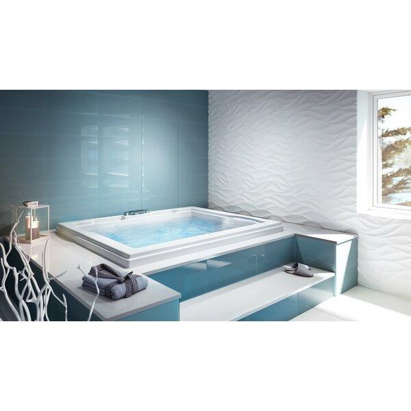 Fuzion Dual WP Chroma LCD Whisper 72 x 60 Drop-In Whirlpool Bathtub by Jacuzzi®