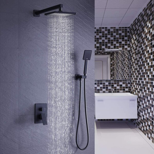 Pressure-Balanced Tub and Shower Faucet with Rough-in Valve with Diverter by Acehoom Acehoom