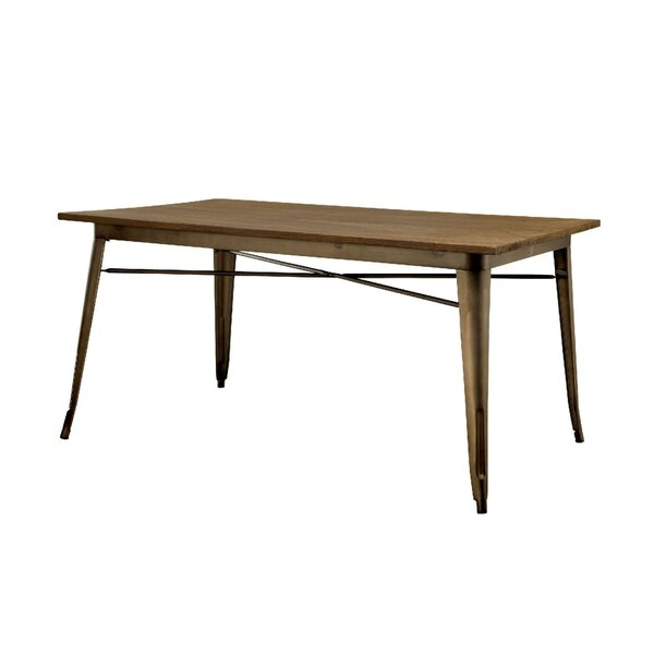 Leonidas Industrial Dining Table by 17 Stories