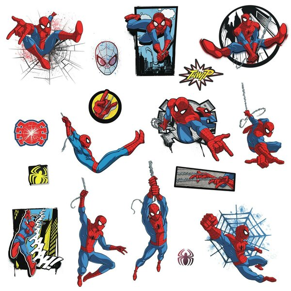 Spider Man Ultimate Comic Peel and Stick Wall Decal by Room Mates