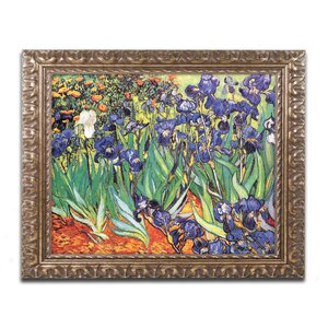 Irises at Saint-Remy by Vincent van Gogh Framed Painting Print by Trademark Fine Art