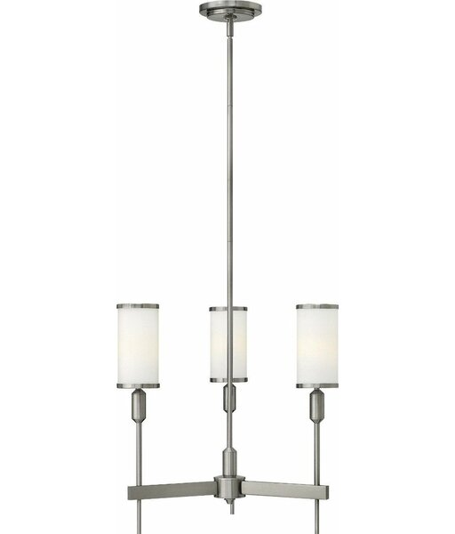 Pritt 3-Light Shaded Classic / Traditional Chandelier By Latitude Run