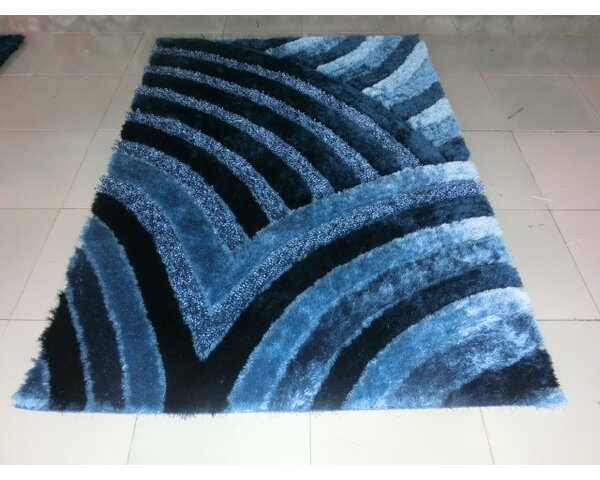 Shelie Wave Blue Area Rug by Orren Ellis