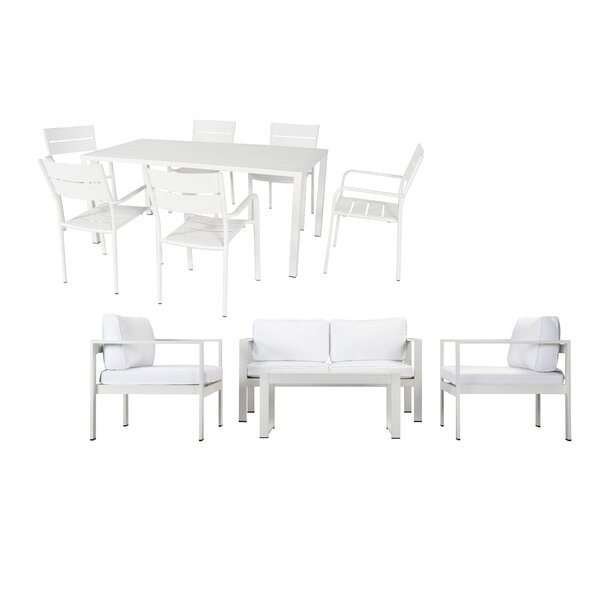 WKRN LRG 5 Piece Complete Patio Set with Cushions by Rosecliff Heights Rosecliff Heights
