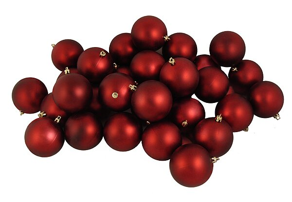 Shatterproof Matte Christmas Ball Ornament (Set of