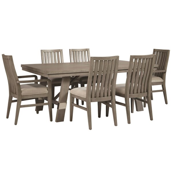 Pingree 7 Piece Extendable Solid Wood Dining Set by Brayden Studio