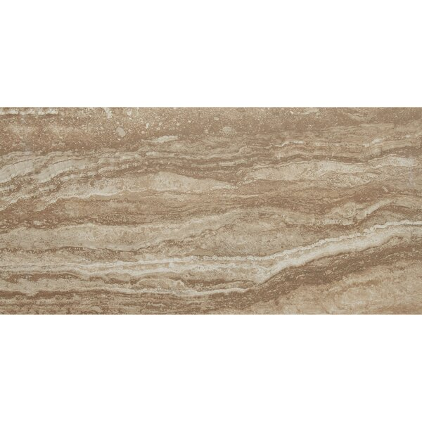 Aguirre 12 x 24 Porcelain Wood Look Tile in Moka by Itona Tile