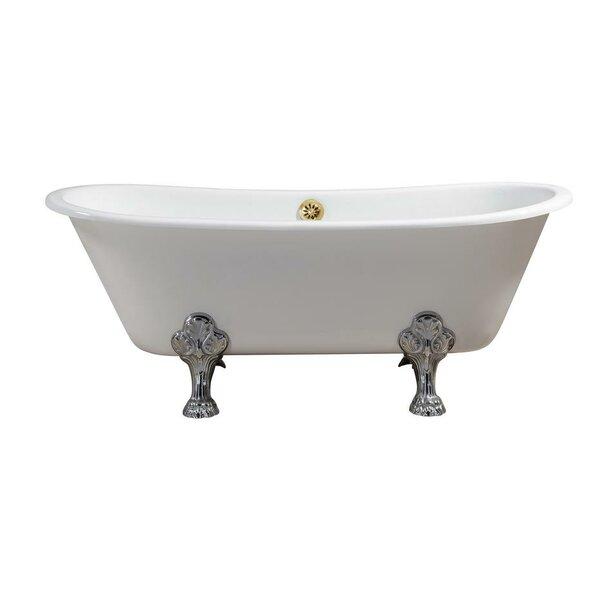 Cast Iron 67 x 28 Clawfoot Soaking Bathtub by Streamline Bath