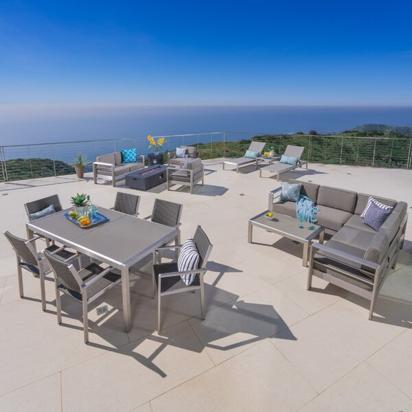 Royalston 18 Piece Complete Patio Set with Cushions by Brayden Studio