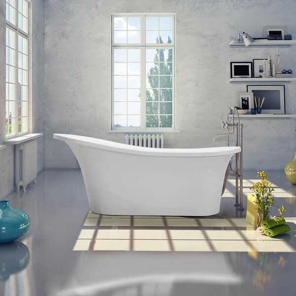 Sicily 66 x 29 Freestanding Soaking Bathtub by Vinnova