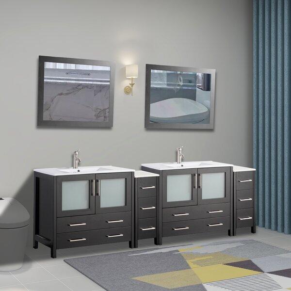 Boyes 96 Double Bathroom Vanity Set with Mirror