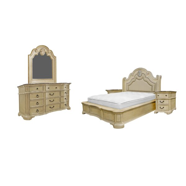 Standard Solid Wood 5 Piece Bedroom Set by Charlton Home