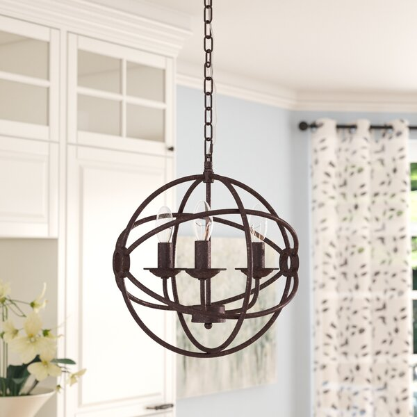 Wheatland 3-Light Chandelier by Gracie Oaks
