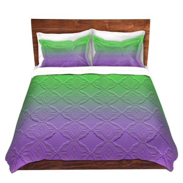 Marriott Susie Kunzelman Ombre Pattern III Purple Green Microfiber Duvet Covers