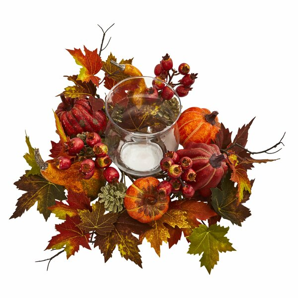 Pumpkin, Gourd, Berry and Maple Leaf Candelabrum by The Holiday Aisle