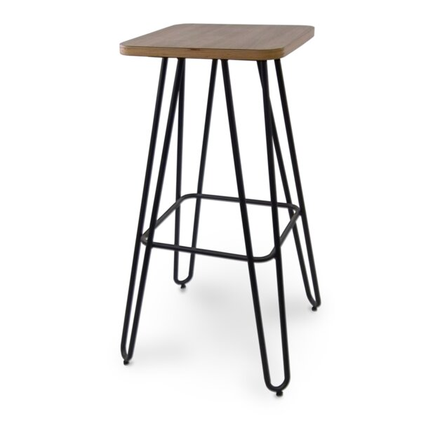 Abdullah Urban Hairpin Leg Bar Stool (Set of 2) by Foundry Select Foundry Select