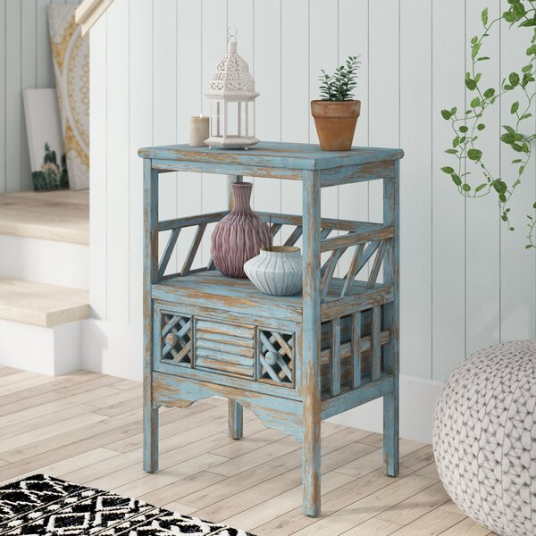 Duffield End Table with Storage by Bungalow Rose