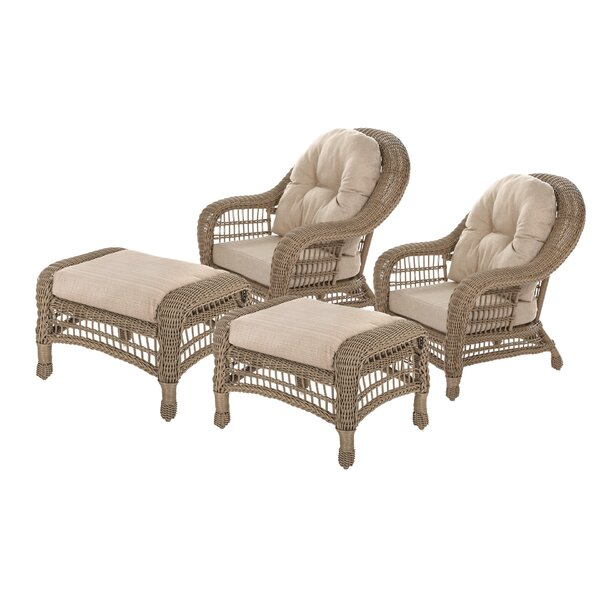 Dennard Outdoor Garden 4 Piece Seating Group with Cushions by Highland Dunes