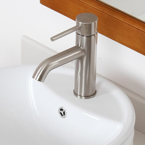 Bathroom Sink Faucet with Horizontal Dip Tip Spout