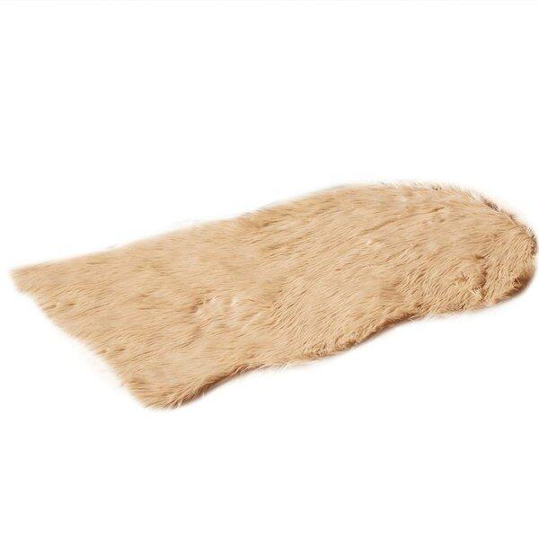 Faux Fur Camle Area Rug by De Moocci
