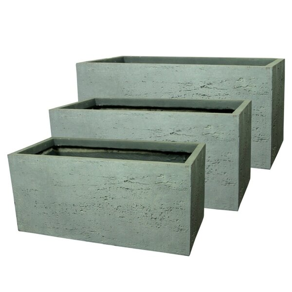Monteiro Subtly Skillful Textured 3-Piece Fiber Clay Pot Planter Set by Williston Forge