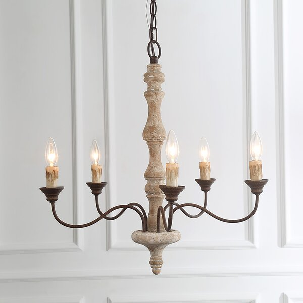 North Adams 5 - Light Candle Style Classic Chandelier by Ophelia & Co. Ophelia & Co.