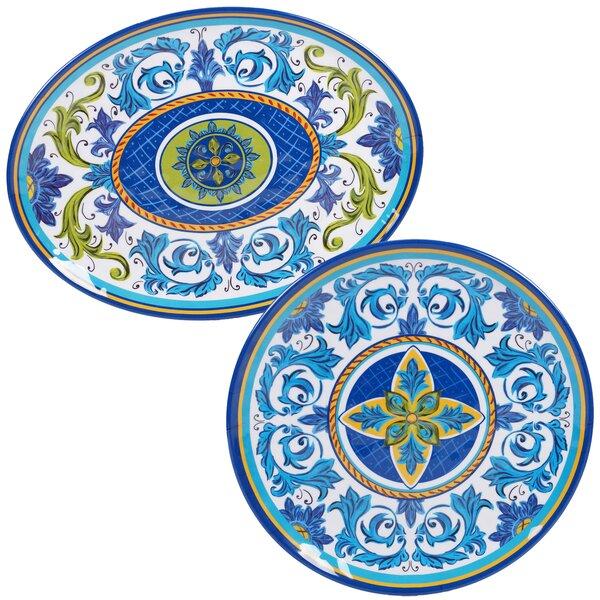 Filion 2 Piece Melamine Platter Set by Charlton Home