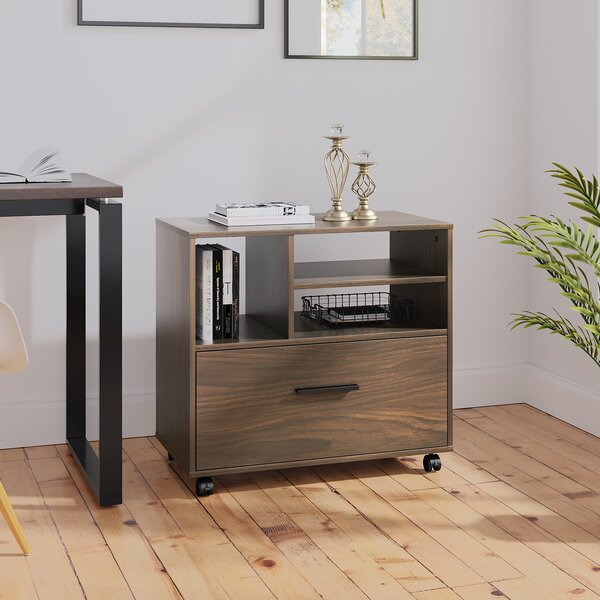 1-Drawer Mobile Lateral Filing Cabinet