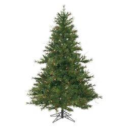 Vickerman Mixed Country Pine 6.5' Green Artificial Christmas Tree ...