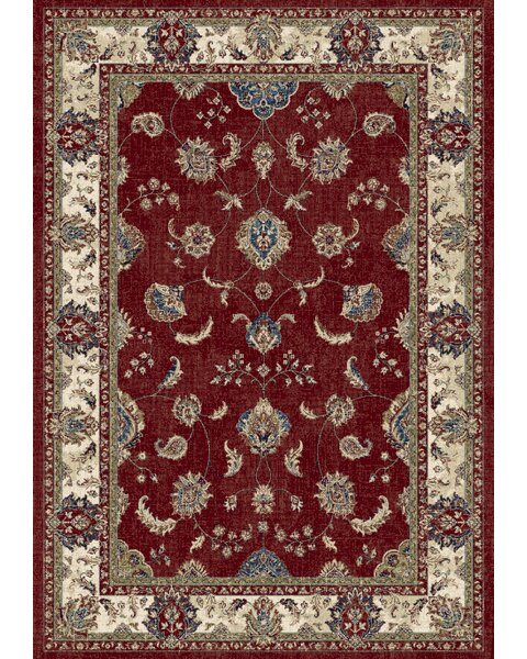 Attell Red/Ivory Area Rug by Astoria Grand