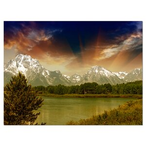 'Grand Teton National Park' Photographic Print on Wrapped Canvas by Design Art