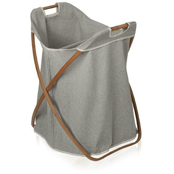 Bamboo Foldable Split Hamper Laundry with Carry Handles by Union Rustic