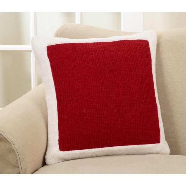 Rockport Holiday Sherpa Border Cotton Throw Pillow by Winston Porter