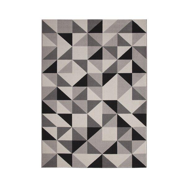 Barcroft Gray/Black Area Rug by Wade Logan
