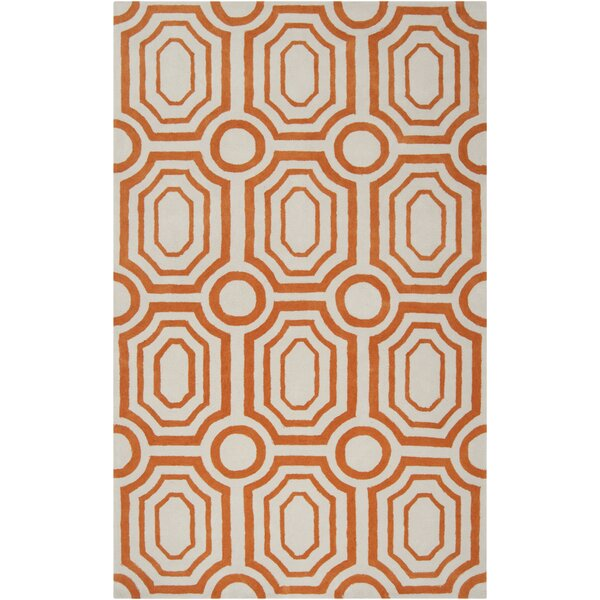 Dryden Hand-Woven Orange Area Rug by The Conestoga Trading Co.