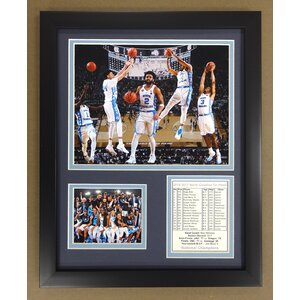 2016-2017 University of North Carolina National Champions 'Legends Collage Never Die' Framed Memorabilia by Legends Never Die