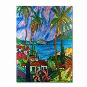 Tropical Paradise by Manor Shadian Painting Print on Canvas by Trademark Fine Art