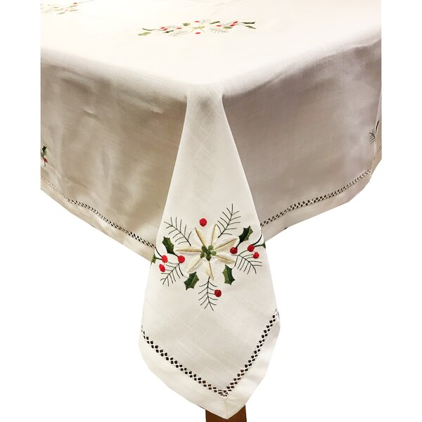 Holly Bouquet Tablecloth by The Holiday Aisle