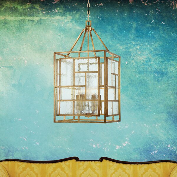 Edgemont Park 6 - Light Lantern Rectangle Chandelier by Metropolitan by Minka Metropolitan by Minka