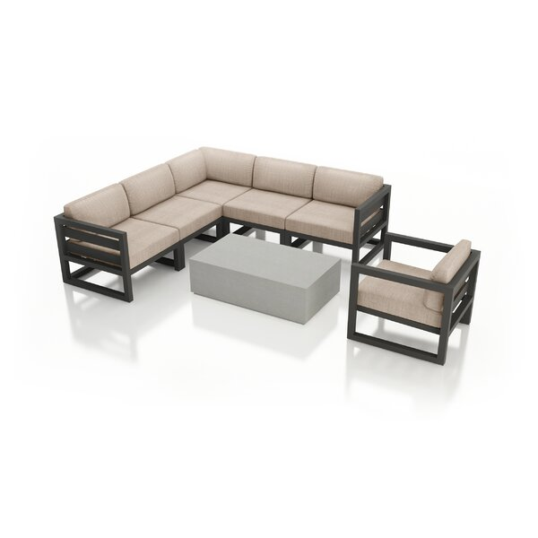 Remi 7 Piece Sectional Seating Group with Sunbrella Cushions by 17 Stories