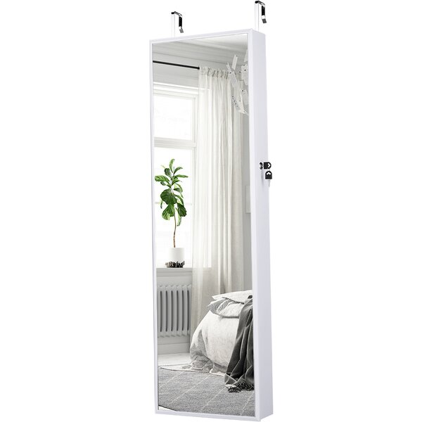 Ford Wall Mounted Jewelry Armoire with Mirror by Rebrilliant